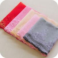 2Yards Embroidery Gauze Lace Trim Fabric Ribbon Garment Skirt Hem Dress Curtain