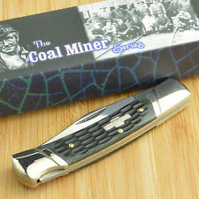 Rough Rider Coal Miner Series Black Jigged Bone Lockback Knife RR761