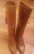 Vintage Never Worn Thom McAn Brown Leather Equestrian Riding Boots Women's 7.5