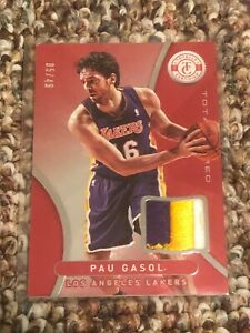 2012-13 Totally Certified PAU GASOL 3 Color Patch Jersey #42! #/49!