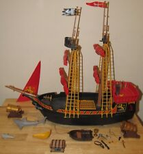 Playmobil Pirate Ship + SHARK SET 5736 Canon Accessories Blackbeards Red Lion #1