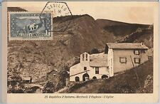 56886 - FRENCH ANDORRA - POSTAL HISTORY: MAXIMUM CARD 1945 - Architecture