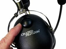 NEW! CRAZEDpilot CP-1 Aviation Headset - Pilot Headset - Aircraft Airplane