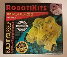 OWI ROBOTIKITS ROBOT BINARY PLAYER MODEL# OWI-9875 NEW FACTORY SEALED BOX 10+