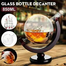 850ml Glass Globe Decanter World Whiskey Rum Vodka Decanter Bar Drinks Cabinet