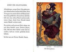 "Fleißbildchen Heiligenbild Gebetbild Hl. Christophoreus Ars sacra"" H1322"""