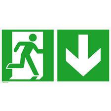 Rettungsschild - nachleuchtend Notausgang rechts (abwärts) Fluchtweg 15.0069
