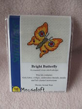 MOUSELOFT STITCHLETS cross stitch kit ~ bright papillon ~ nouveau