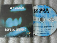 CD-BOY GEORGE-LOVE IS LEAVING-MILK TEETH POPULAR-MOLELLA-(CD SINGLE)1997-2TRACK