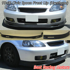 SPN Style Front Bumper Lip (Urethane) Fits 99-00 Honda Civic 3dr