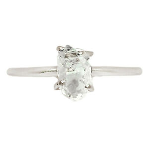 Herkimer Diamond - USA 925 Sterling Silver Ring Jewelry s.9 BR92969