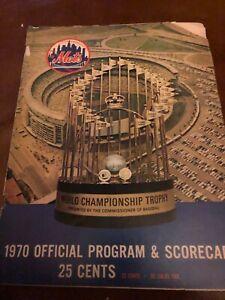 New York Mets Atlanta Braves 1970 Program Nolan Ryan Henry Aaron Orlando Cepeda