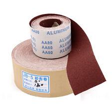 Abrasive Sanding Roll 80 600 Grit Sand Paper Sheet Metal Wood Burnish Tools