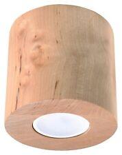 Naturholz Spot-Strahler ORBIS GU10 Deckenleuchte Deckenlampe Einbauleuchte walze