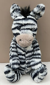 NEW Jellycat Medium Bashful Zebra Comforter Baby Soft Toy Soother BNWOT