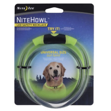 Nite Ize NiteHowl LED Safety Necklace Green Dog Collar-Universal size
