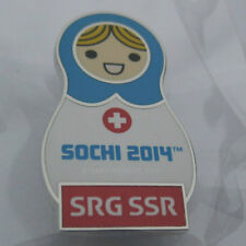 2014 Sochi Winter Olympic SRG SSR Babushka MEDIA Pin
