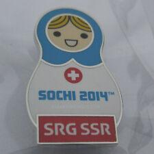2014 Sochi Winter Olympic SRG SSR Babushka MEDIA Pin