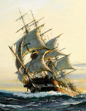 HD Canvas Print Ancient warships Oil painting printed on canvas L1278