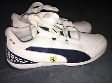 NEW PUMA Ferrari Valorosso SF Jr. Kids White Blue Big Kids Size 6 $70