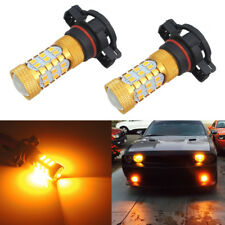 Amber 5202 5201 5200S Car Truck Fog Driving Lights Daytime DRL 27-SMD LED Bulbs