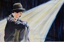 Charlie Chaplin. Large Modern original oil painting Wall art