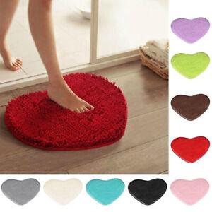 Fluffy Heart Shape Carpet Rug Bedroom Shaggy Floor Mat Anti-Skid Area Rugs