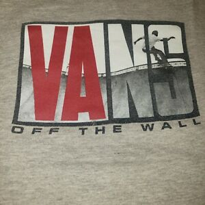 Vans Youth Tee Shirt Size Large Gray Off The Wall Boys Skateboarding