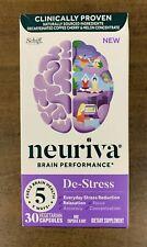 Neuriva Brain Performance De-Stress 30 Capsules Fuels Brain Health Exp 02/2022
