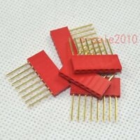10X 2.54mm 8Pin tall Female stackable Header Arduino for Shield socket Red 327B