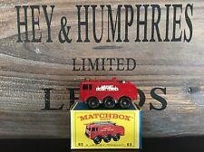 matchbox regular wheels no.63B-2.Version mint OVP E-4 excellent from 1964/66