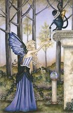 Amy Brown Fairy Faery Large Card The Locket Monkey Flying Wings Winged New