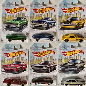 2018 Hot Wheels DETROIT MUSCLE Series Diecast Metal Cars 1:64 PRIORITY SHIPPING