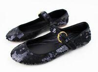 COHEN et SABINE (UK 6.5) Sz 40 Black Sequin Ballerinas Ballet Flats Shoes Pumps