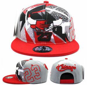 Chicago New Greatest MJ 23 Jordan Bulls Gray Red Fantasy Era Snapback Hat Cap