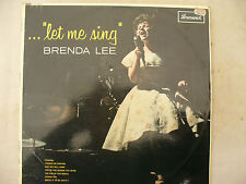 BRENDA LEE LP LET ME SING Brunswick uk issue 8548