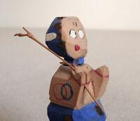 "2.5"" Japanese VTG Hand carved wooden doll ittobori : made in around 1955"