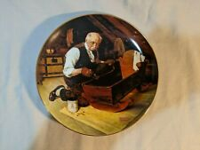 Norman Rockwell Grandpa'S Gift Knowles Collector Plate w/ Coa & Original Box