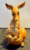 Vintage Josef Originals Rocking Kangaroo Figurine w/ Removable Baby Joey
