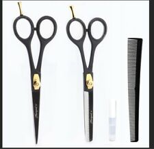 Professional Hairdresser Scissors Oil Hair Cutting and Thinning with Comb NEW