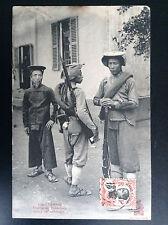 CP carte postale Indo Chine Tonkin Tirailleurs Tonkinois