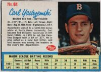 1962 Post #61 Carl Yastrzemski EX-EX+ Wrinkle Boston Red Sox FREE SHIPPING