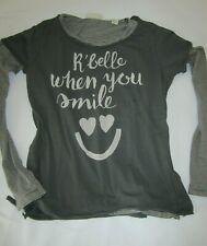 Scotch R'Belle Langarm Shirt + T-Shirt Grau Gr. 14 164