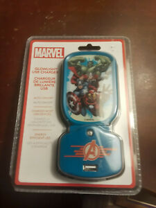 MARVEL THE AVENGERS HULK THOR IRONMAN CAPTAIN AMERICA NIGHT LIGHT USB CHARGER