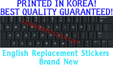 ENGLISH US NON-TRANSPARENT KEYBOARD STICKER BLACK Opaque Non Transparent