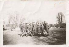 Foto Panzer-Soldaten Gruppenfoto Fleckentarn-Uniform Kampfabzeichen E.K. Orden
