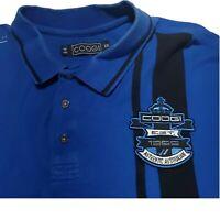 Coogi Shirt Authentic Australia Royalty Blue Men's Polo Short Sleeve XXL Patch