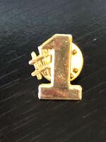 Vintage Collectible #1 Colorful Metal Pin Back Lapel Pin Hat Pin