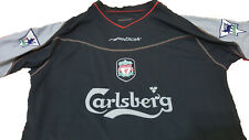 Liverpool FC 2002-2003 Away Jersey with EPL patches and player name Authentic