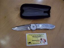 """CUSTOM BUCK KNIFE 297 """"Michael Prater Proto"""" MOTHER OF PEARL / Painted Pony GEM"""